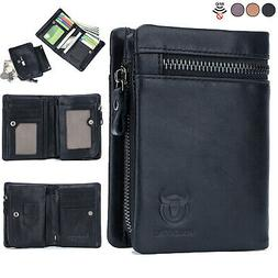 2 in 1 mens women wallet genuine
