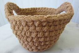 Small Round Basket with Handles - Many Color Choices