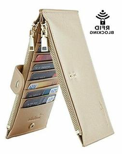 Travelambo Womens Walllet RFID Blocking Bifold Multi Card Ca