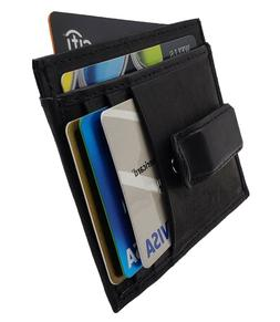 AG Wallets Slim Money Clip Mens Leather Front Pocket Wallet