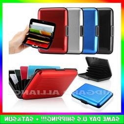Aluminum Metal Wallet Men Business ID Credit Card Case Holde