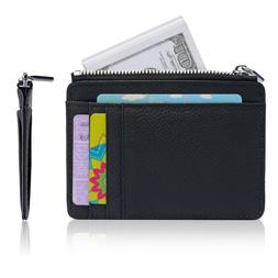 Anti-theft Slim Wallet RFID Front Pocket Wallet with Zipper