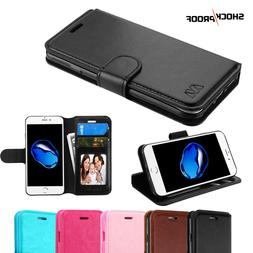 For Apple iPhone 7 8 Plus Leather Flip Wallet Case Protectiv