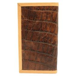Ariat Bi-Fold Rodeo Croc Print Tan Edge Wallet A3535202