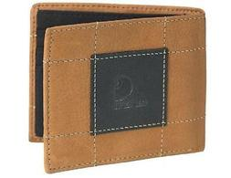 CARHARTT Bifold PASSCASE ID WALLET Full Grain BROWN Leather