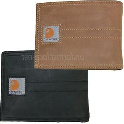 Carhartt Wallet Mens Detroit Passcase Bifold Trifold Leather Wallets Brown Black