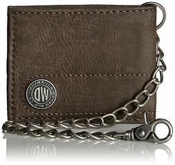 Bifold Wallet with Chain Men Accessories Clothing Money Cont