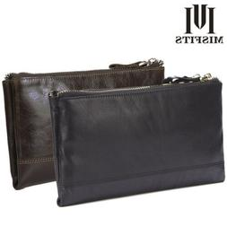 BIG CAPACITY Men Large Bifold Leather Long Wallets ID Credit