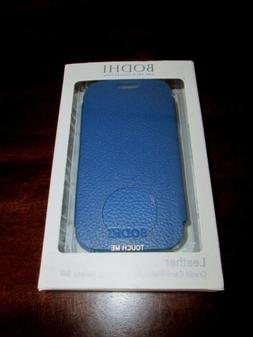 BODHI Blue LEATHER CREDIT CARD WALLET for SAMSUNG GALAXY SII