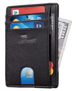 Slim Wallets For Men Carbon Fiber RFID Blocking Wallet Mens