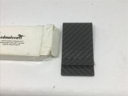 Travelambo Carbon Fiber Money Clip Front Pocket Wallet Minim