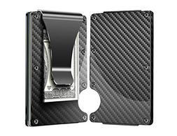Carbon Fiber Wallet, Metal Money Clip Wallet, RFID Blocking
