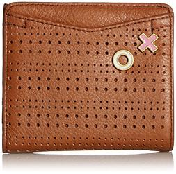 Fossil Caroline RFID Mini Wallet, Saddle