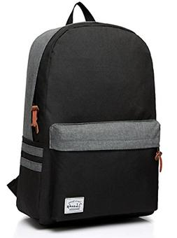 Vaschy Casual Classic Lightweight Daypack Teen School Backpa
