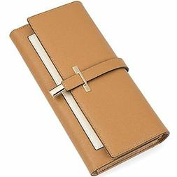 Clearance RFID Blocking Leather Wallet For Women Slim Clutch