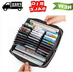 Buvelife Credit Card Wallet Leather RFID Wallet for Women, H