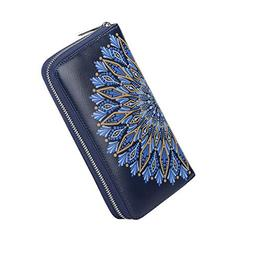 Credit Card Wallet Women RFID Blocking Card Case Wallet Leat