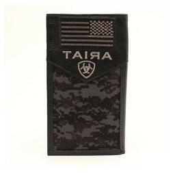 Ariat Dark Camo and USA Flag Rodeo Style Wallet