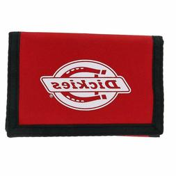 Dickies Men'S Fabric Trifold Wallet With Hook And Loop Closu