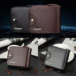Fashion Short Wallet for Man with Zipper Hasp Leather Men Pu