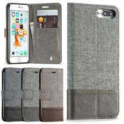 Fashion Women Men Wallet Leather Phone Case with Card Slot F