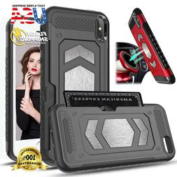 Fits Apple iPhone Case Magnetic Dual Layer Armor Wallet Card