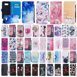 Flip Leather Card Wallet Stand Phone Case Cover For Samsung