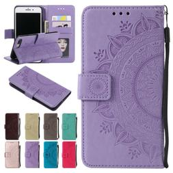 Flip Pattern Leather Wallet Stand Shockproof Case Cover For