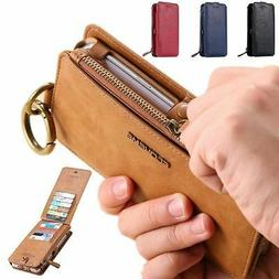 FLOVEME Luxury Retro Leather Wallet Phone Case Cover For iPh