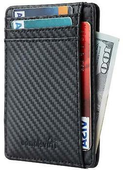 Front Pocket Wallet Minimalist Wallets Leather Slim Wallet M