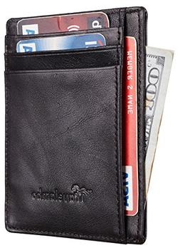 Travelambo Front Pocket Wallet Minimalist Wallets Leather Sl