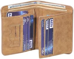 Front Pocket Wallet Money Clip Rfid Blocking Leather Id Cred
