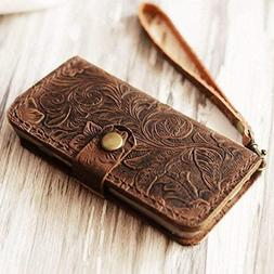 Genuine Italian Leather Wallet Case for Iphone 8 plus/iPhone