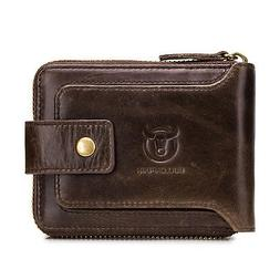 Genuine Leather RFID Blocking Wallet For Men and Women With