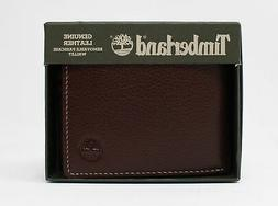 Timberland Genuine Pebble Leather Removable Passcase Wallet