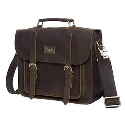 Bryker Hyde Handmade Full Grain Leather Laptop Briefcase Mes