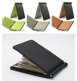 Hot Men Slim PU Leather  Bifold ID Credit Card Wallet with R