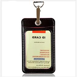 Lucstar ID Card Badge Holder with Lanyard Clear Window Quali