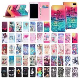 For iPhone 7/8 Plus Cute Leather Magnet Wallet Stand Case Fl