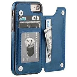 iPhone 8 Wallet Case with Card Holder,OT ONETOP iPhone 7 Cas