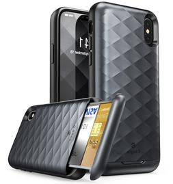 For iPhone X / XS Case, Clayco Protective Wallet Case Credit