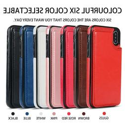 For iPhone X/XR/XS Max/6 7 8 Plus Shockproof Leather Wallet