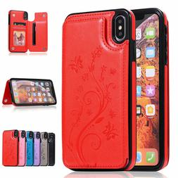 For iPhone X/XS / XR / XS Max / 7/8 Plus Leather Wallet Case