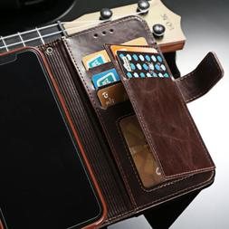 For iPhone XS MAX X 11 6 7 Flip Leather Men's Wallet Card St