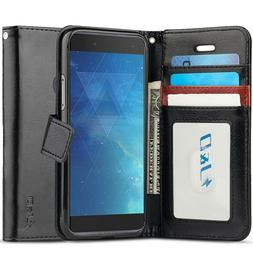J&D Alcatel Idol 5S  PU Leather Flip Wallet Case