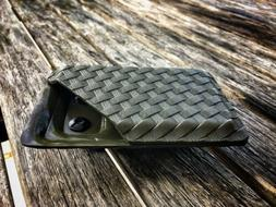 Kydex Wallet With Money Clip OD Green Textured Basket Weave