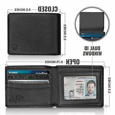 2 ID Wallet for Men, Top