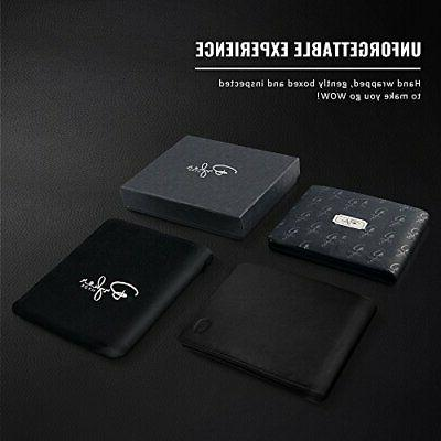 2 Window Wallet for Men, Bifold Top