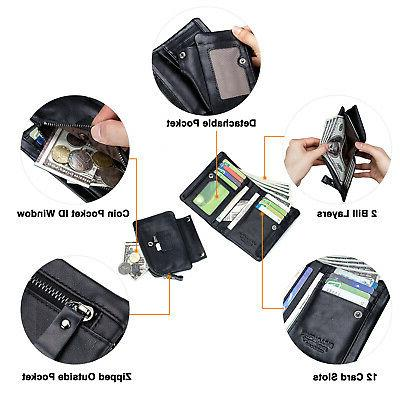 2 in Women RFID Bifold Coin Purse