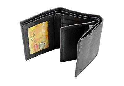 Leather Wallet ID Pockets Holder